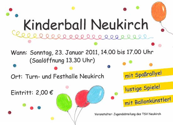 Einladung zum Kinderball 2011